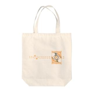 ゆるい系の猫-おれんじ色- Tote bags