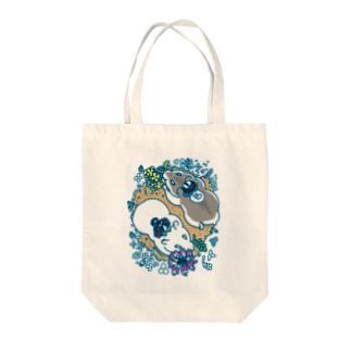 ハムスター・春の野・2匹 Tote bags
