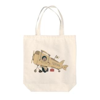 ひこうき Tote bags