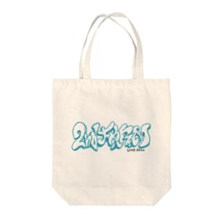 スローアップロゴ Tote bags