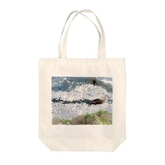かもさん Tote bags