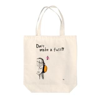 ヘッドホンガール Tote bags
