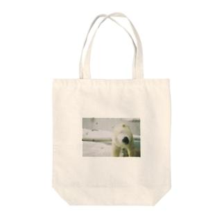 シロクマトルネード Tote bags