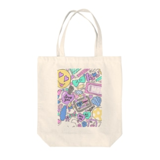 drawn by MOMONE  Tote bags