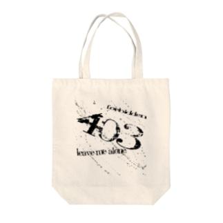 403 Forbidden Tote bags