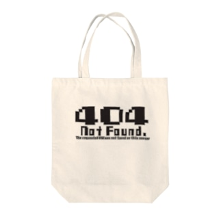 404 notfound type1 Tote bags