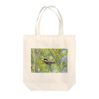 ヤマガラ Tote bags