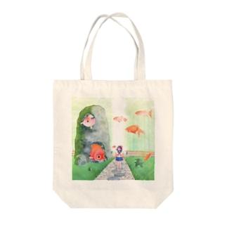 金魚の庭園 Tote bags