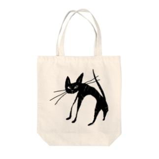 black tabby cat 黒 トラ猫 Tote bags