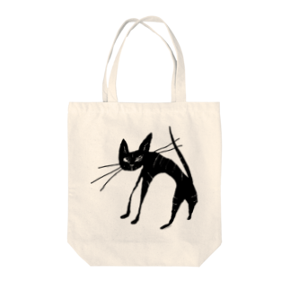 miuのb​l​a​c​k​ ​t​a​b​b​y​ ​c​a​t​ ​黒​ ​ト​ラ​猫 Tote bags