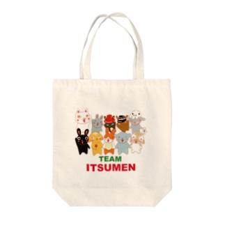 TEAM ITUMEN Tote bags