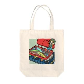 ハコイリムスメ(ルアー箱) トートバッグ Tote bags