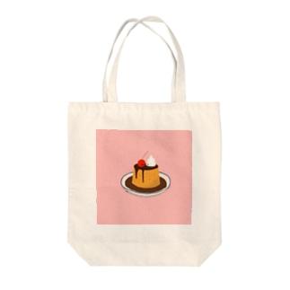 ぷりん。 Tote bags