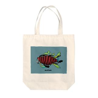 魚工場 Tote bags