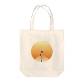 夕焼け小焼け Tote bags