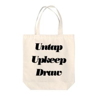 アンタップアップキープドロー Tote bags