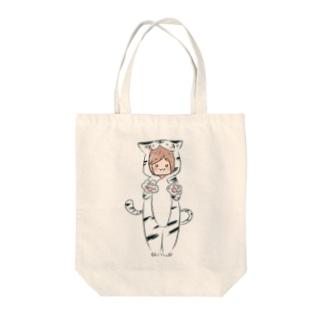 がおバック Tote bags