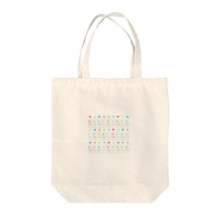 カラフルウォーター Tote bags