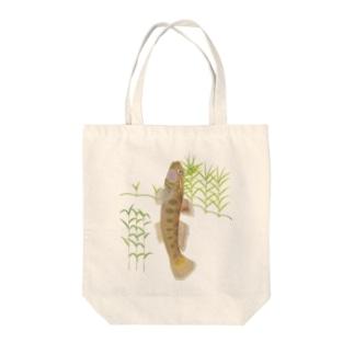 ヨ~シ Tote bags