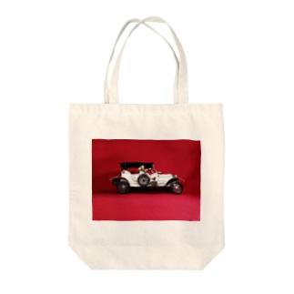 ドール写真:ブロンド美女と自動車 Doll picture: Blonde worrier & a car Tote bags