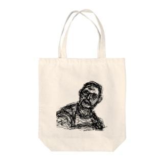 彼 Tote bags
