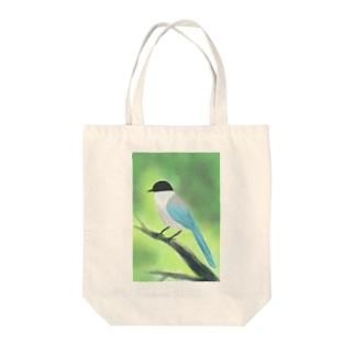 オナガ Tote bags