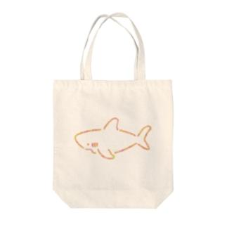 わりとシンプルなサメ2021ピンク系Ver. Tote bags