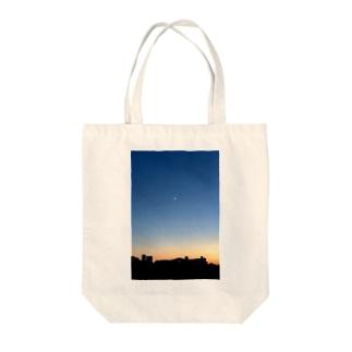 夕陽 Tote bags