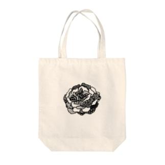 バラ Tote bags