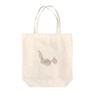ドンドン蓮根足 Tote bags