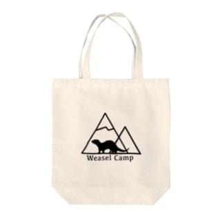 Weasel camp Tote bags