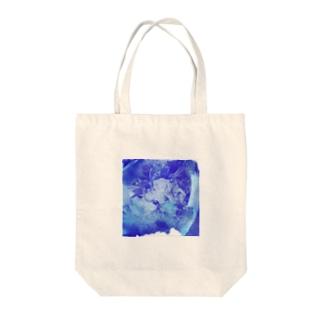 blue rose Tote bags