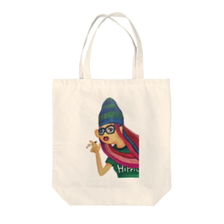 HIPPIE GIRL Tote bags
