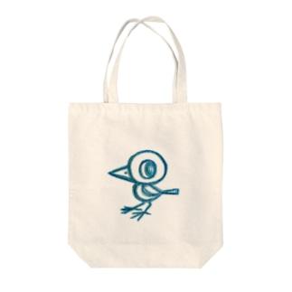 ミズホドリ(ロゴなし)白 Tote bags