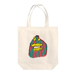 変な生き物 Tote bags