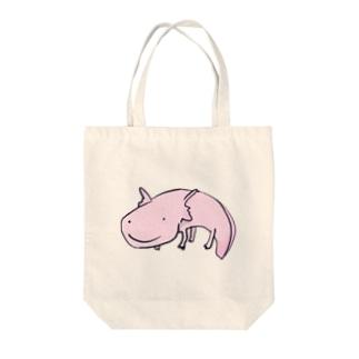 ぴーちゃん Tote bags