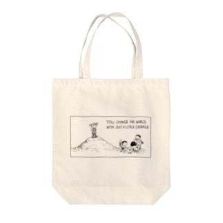 ほんの少しの勇気で。 Tote bags