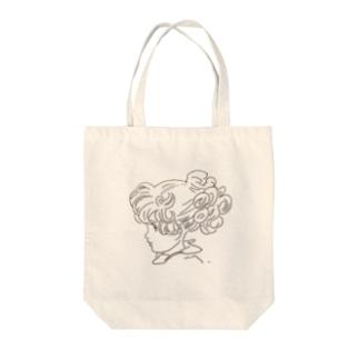 女の子のお人形 Tote bags