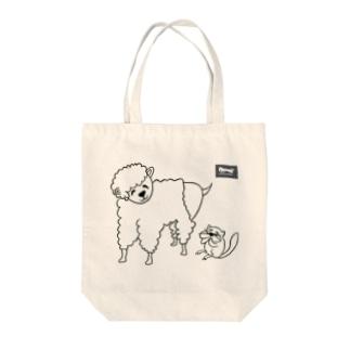 羊とリス(codycoby) Tote bags