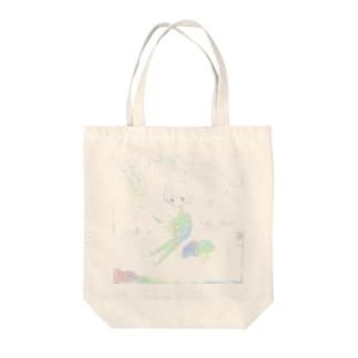 天変地異 Tote bags