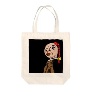 名画っぽいアングル Tote bags