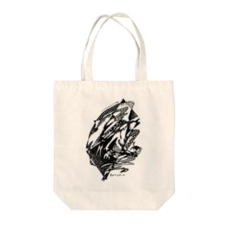 White Stork / コウノトリ Tote bags