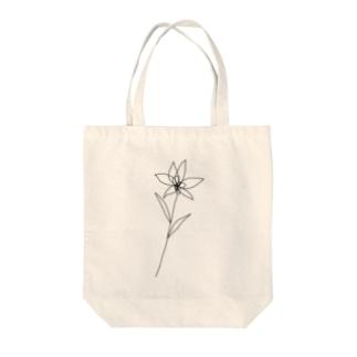 flower black Tote bags