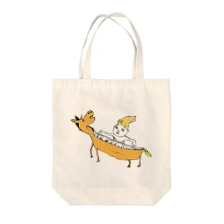 ウマピアノ Tote bags