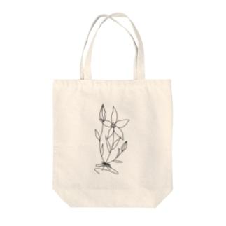 bouquet black Tote bags
