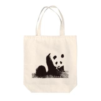 モノクロパンダ Tote bags