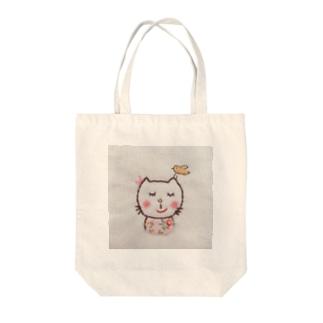小花さんちのねむりねこさん Tote bags