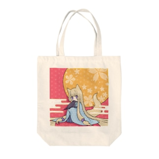 花と烏とみみしっぽ Tote bags