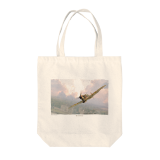 kazu Aviation Artのスピットファイア Tote bags