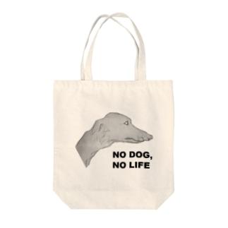NO DOG,NO LIFE Tote bags